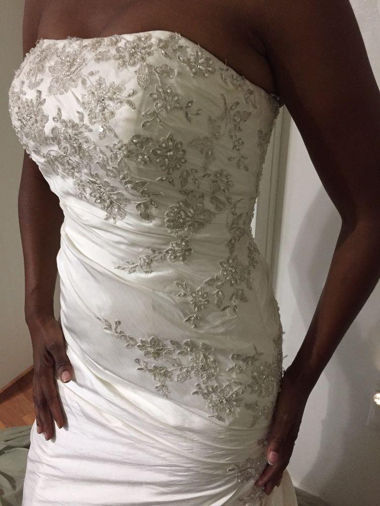 Davids Bridal Wedding Dress Style T9397 Pre Worn Color White Size 6 Fashion Clothing Shoe Davids Bridal Wedding Dresses Wedding Dress Styles Wedding Dresses