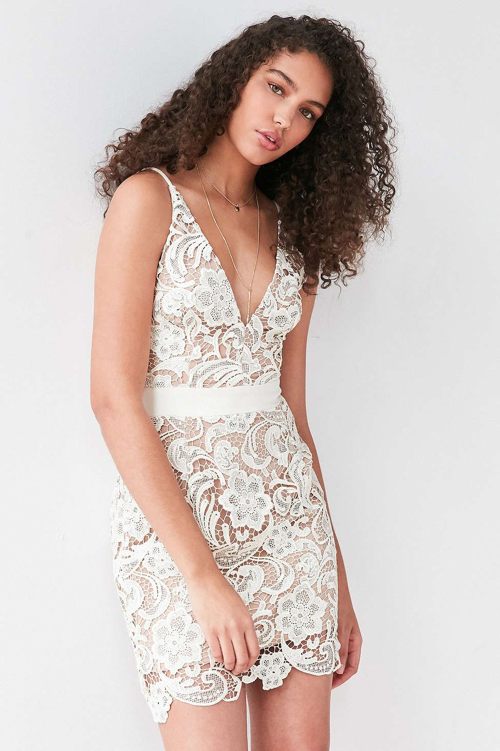 UO Dress The Population Ava Lace Dress