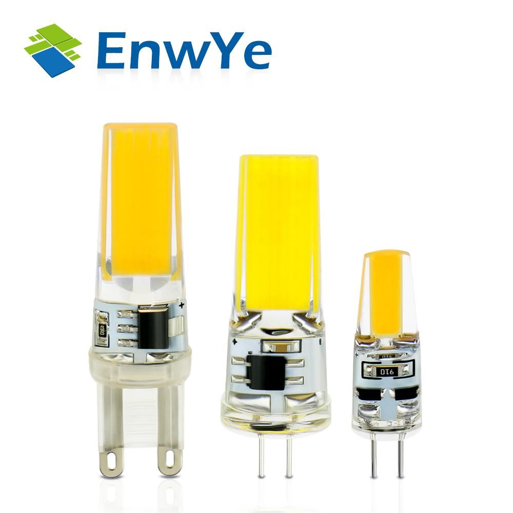 Enwye Led G4 G9 Lamp Bulb Ac Dc 12v 220v 3w 6w Cob Smd Led Lighting Lights Replace Halogen Spotlight Chandelier Lamp Bulb Chandelier For Sale Led Lights