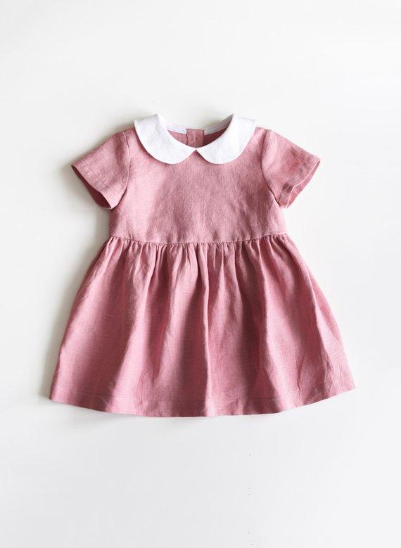 5cc51a15e Baby Linen Dress