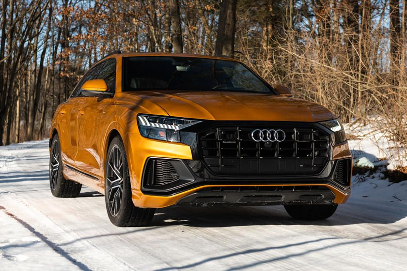 2020 Audi Q8 Front Angle View Photo In 2020 Audi Bmw X7 Bmw X6