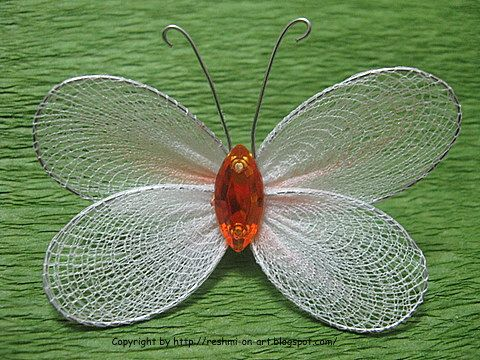 One making nylon butterflies and flowers love this