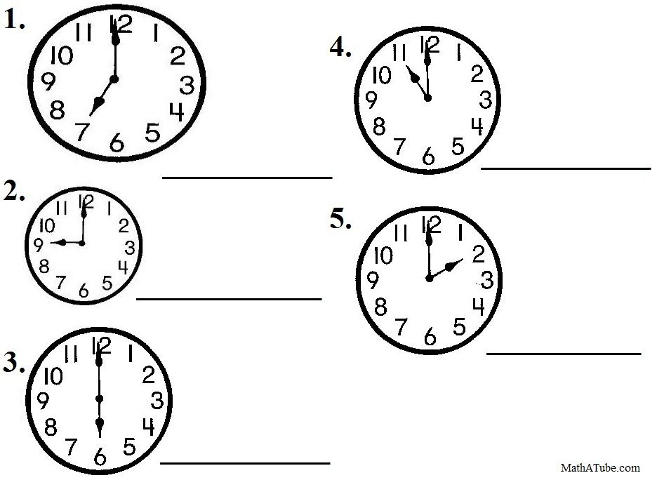 Free Telling Time Worksheets, Missing Hands Time Clock | Telling