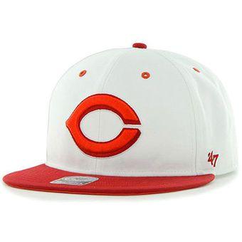 info for d9d90 6ce1c  47 Cincinnati Reds White Red Maxim 2-Tone Neon Adjustable Hat
