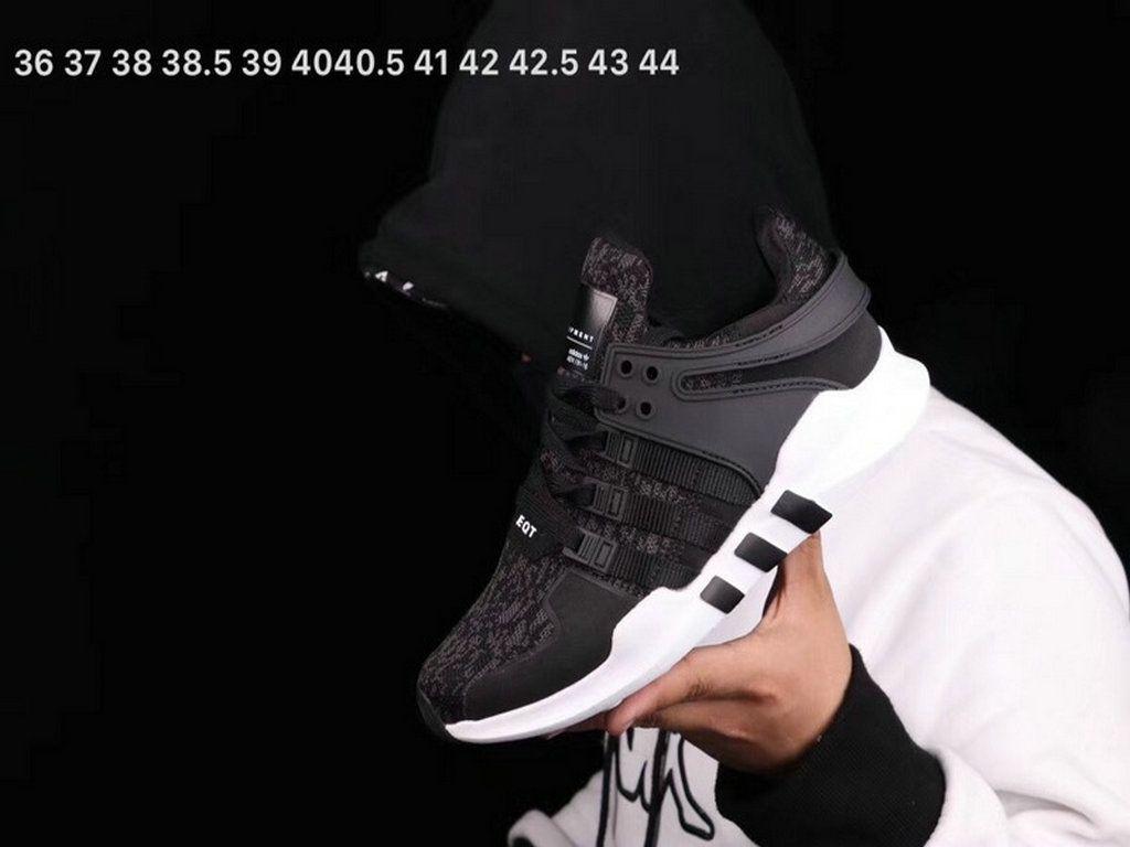 best service 3305a 373f2 Adidas EQT Support 93 Black Black White Shoe