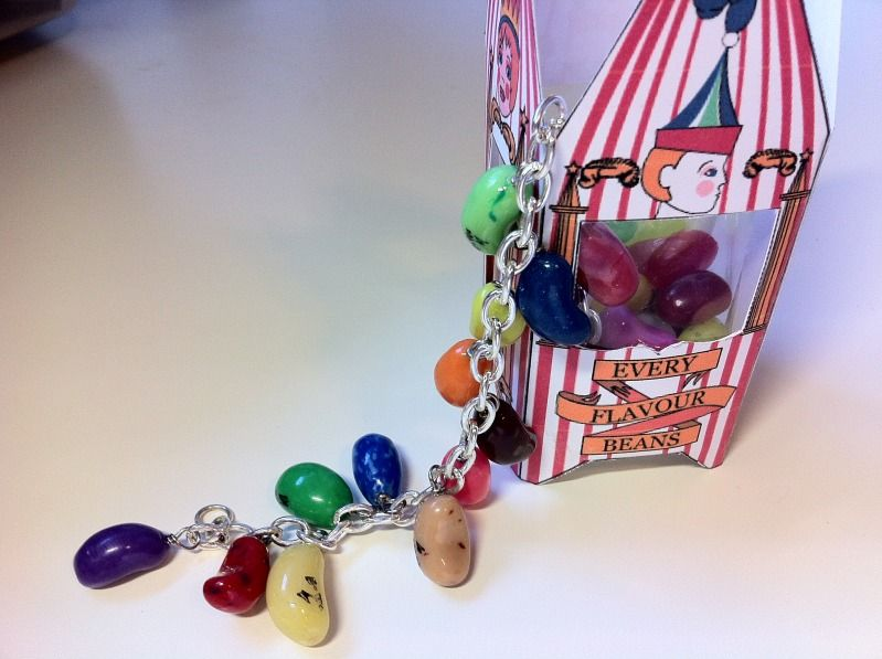 The cutest Bertie Bott's bracelet ever seen!  I love that patty_o stamped the name onto the beans!