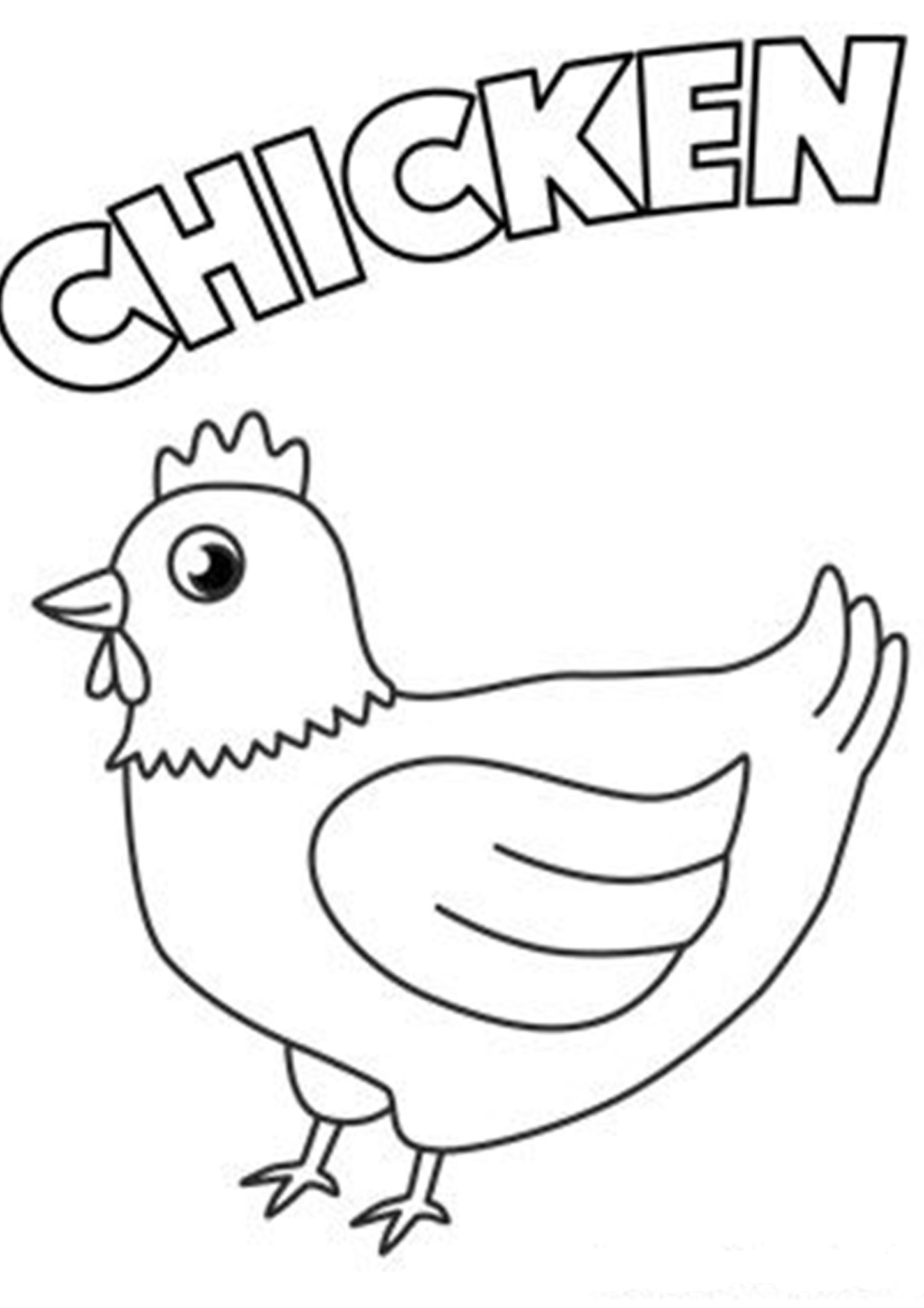 Free Amp Easy To Print Chicken Coloring Pages In