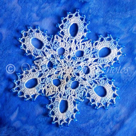 Beaded No Dice Snowflake Free Pattern From Snowcatcher Snowflakes