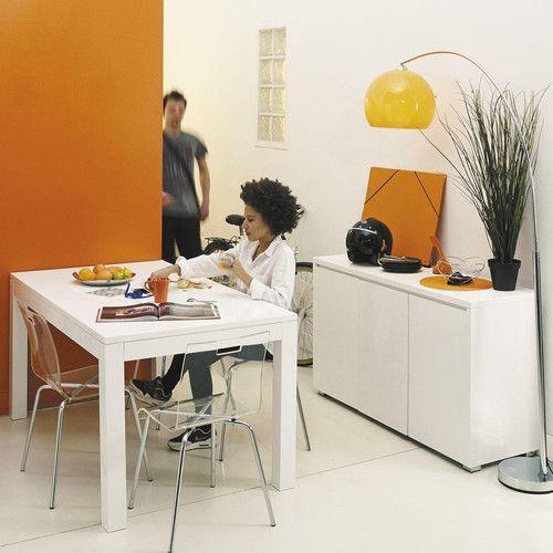 Mesa de comedor blanca lacada An 160 cm Mesas de comedor de