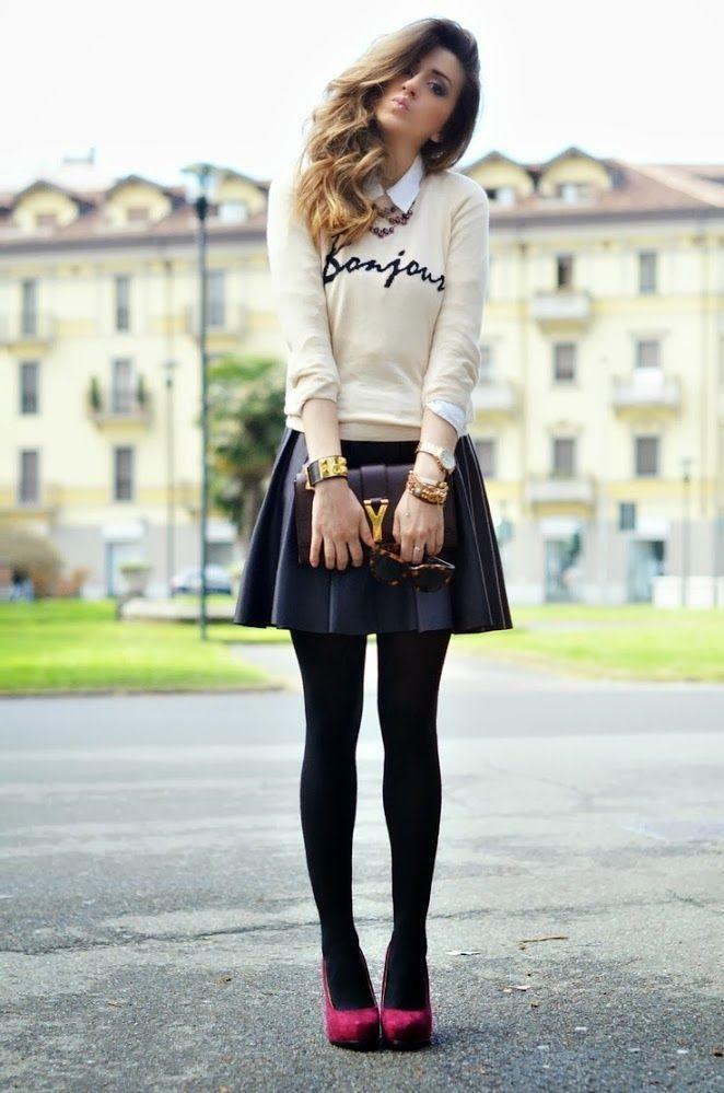 a0d58a3a89 17 Maneras de Vestir con una Falda en Invierno - Ideas muy Sencillas ...
