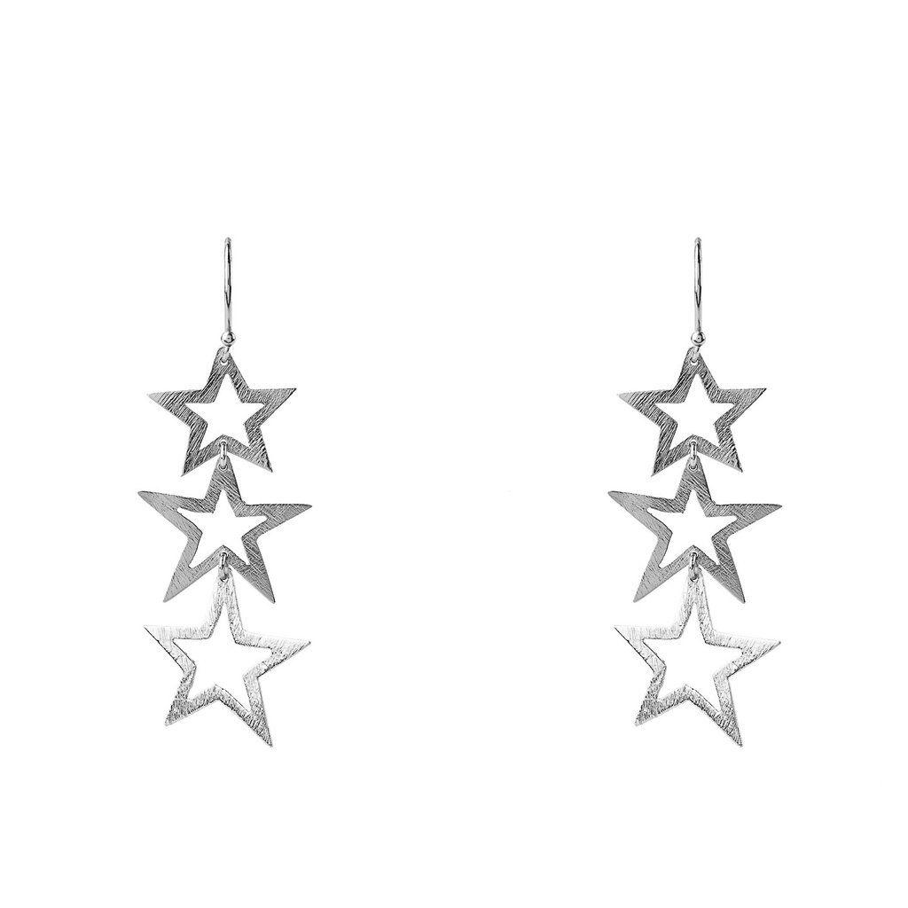 Triple Open Star Earring te8eyxMtgI