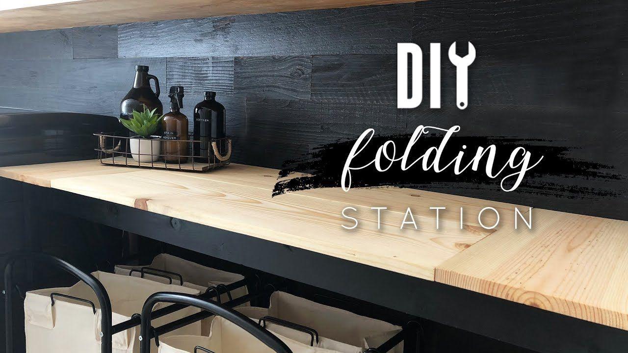 Diy Folding Station For Laundry Room Laundry Room Diy Laundry