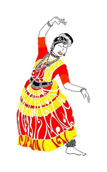 Dance India Bharatanatyam Pose Elegant Grace Movement Beauty Culture Tradition Heritage Indian Art Dancing Drawings Phad Painting Dance Painti