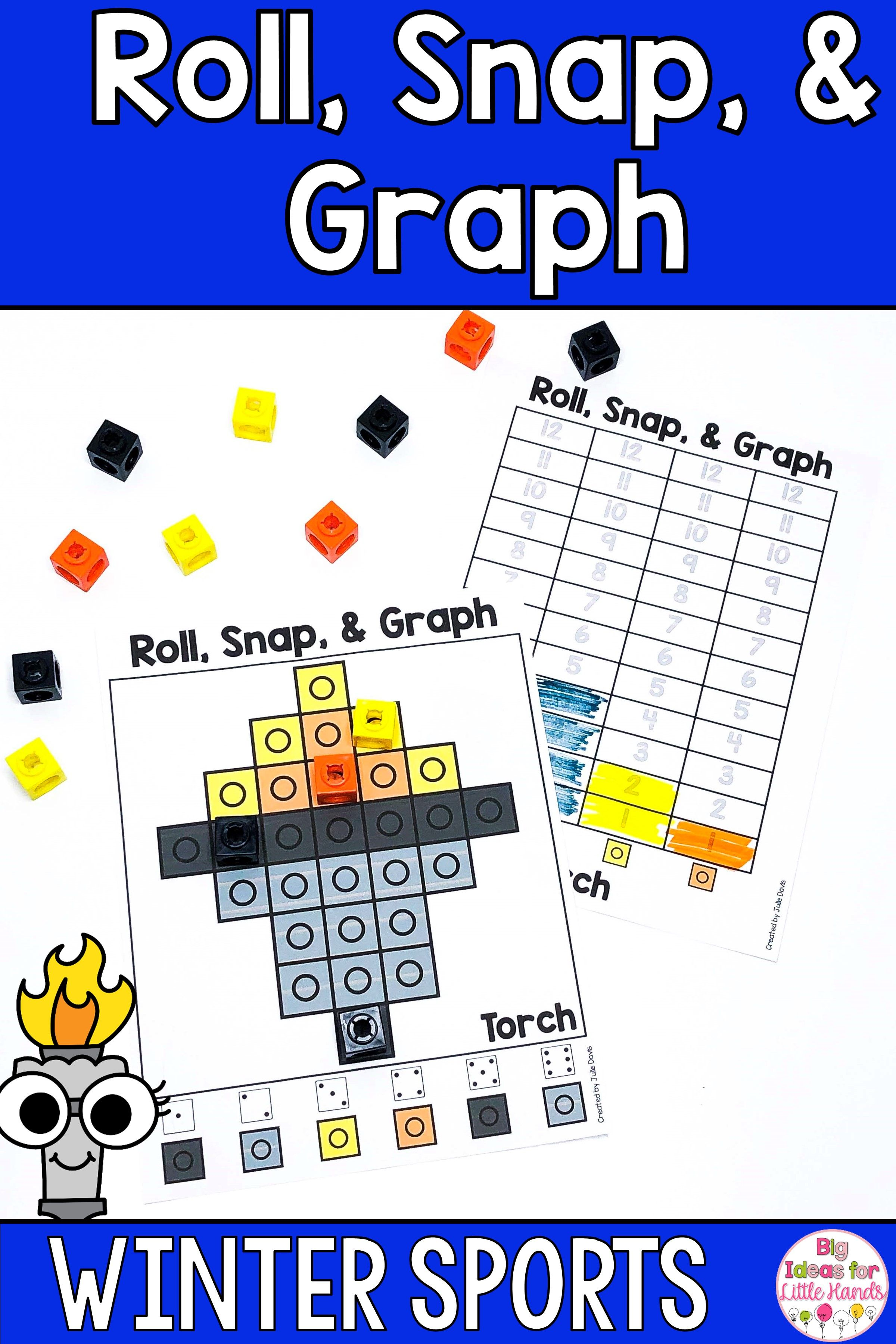 Winter Sports Math Centers And Graphing Activities