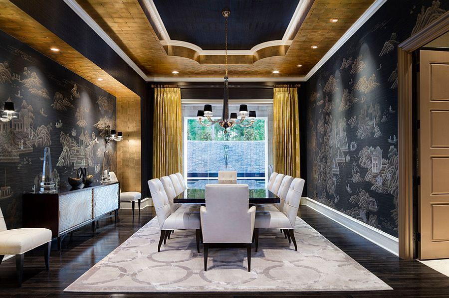 Gold Dining Room Decor: 15 Refined Decorating Ideas In Glittering Black And Gold