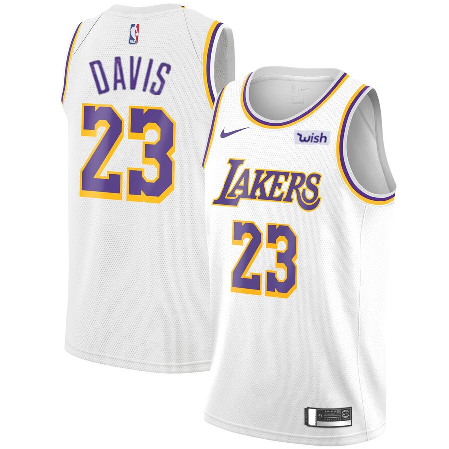 Men S Los Angeles Lakers 23 Anthony Davis 2019 White Nike Swingman Wish Stitched Nba Jersey Los Angeles Lakers White Jersey White Nikes