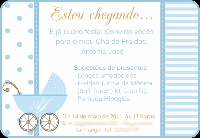 Convite Cha De Bebe Virtual 5 Chá De Bebê Pinterest