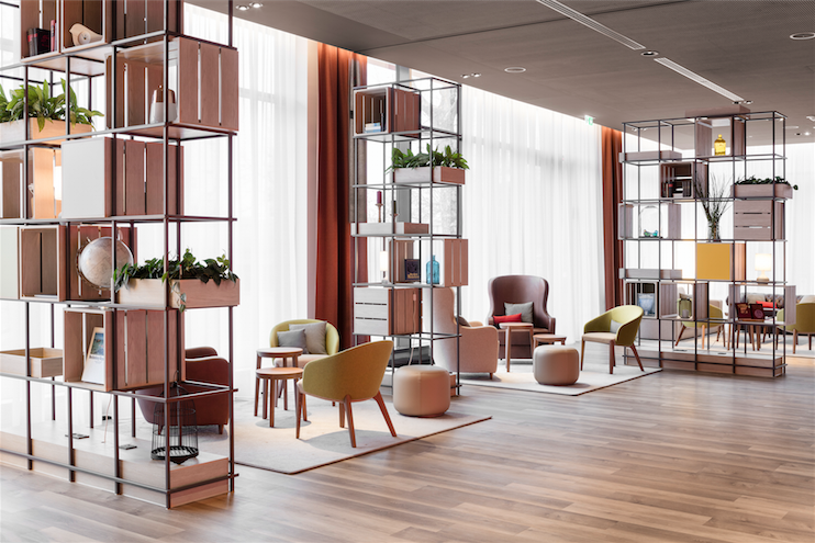 Check Out Intercity Hotel A Hotel In Germany For The Hip And Trendy Office Interior Design Modern Hotel Interior