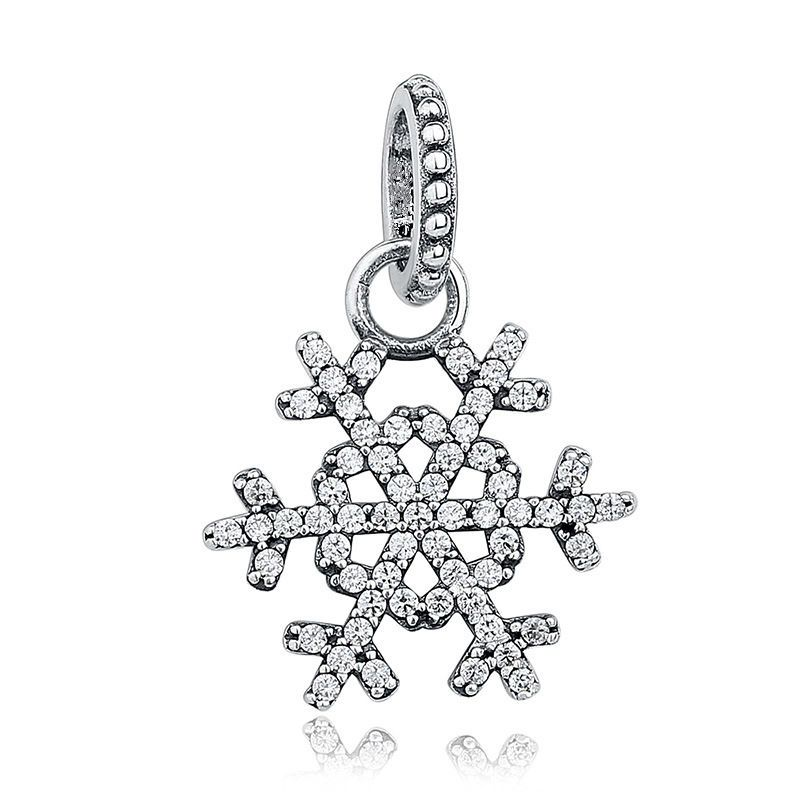c568e27ecce ... new arrivals snowflake bell tortoise fish elephant minnie bowknot charm  pendants diy silvering beads fit necklace