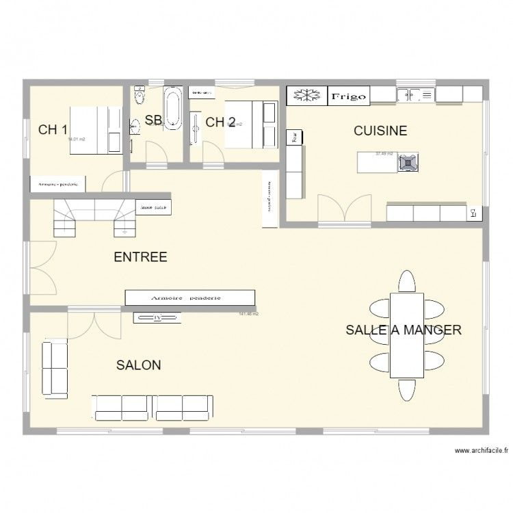 Plan Maison 180 M2 Tunisie Plan Maison Plan Maison 120m2 Plans