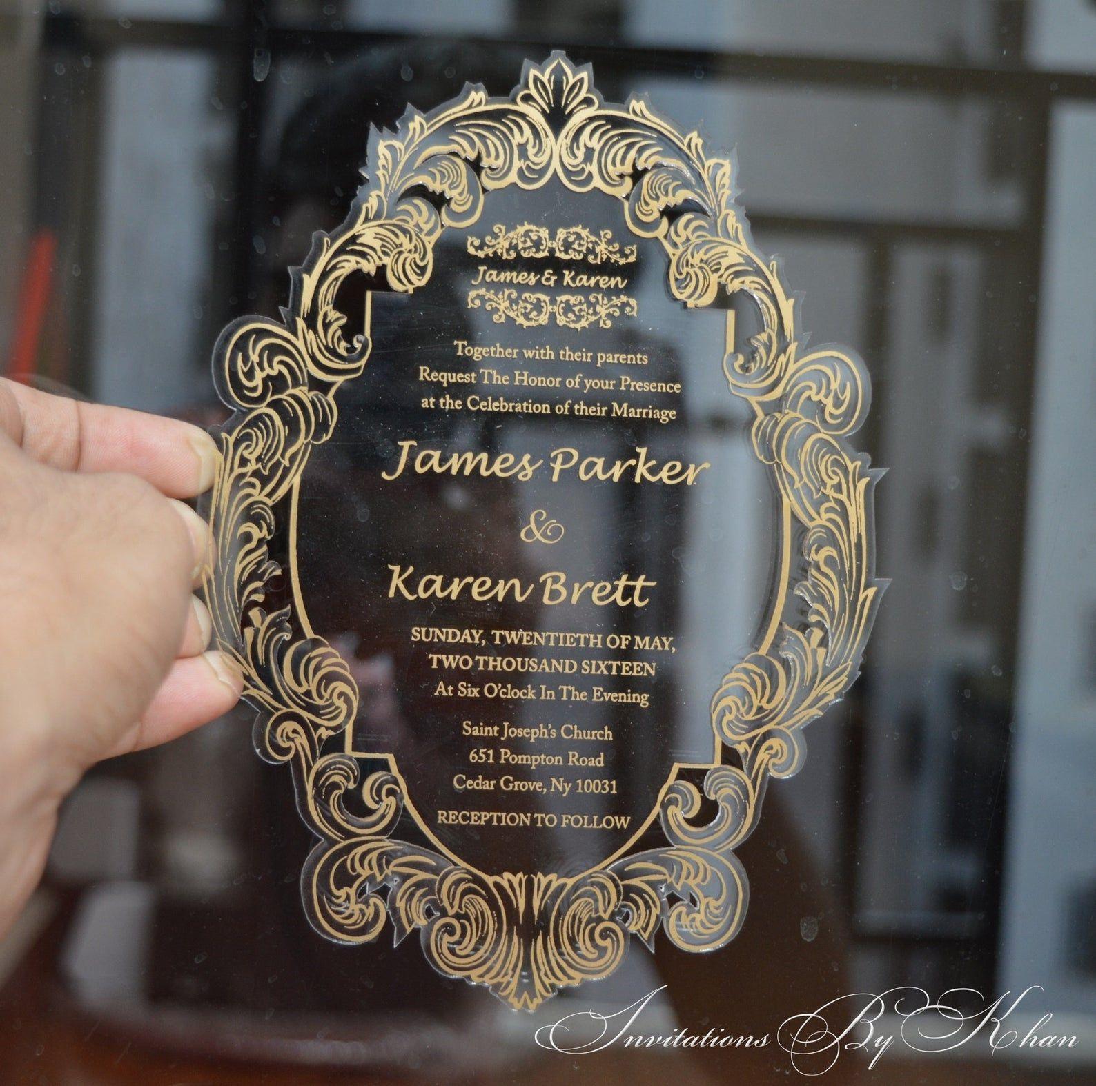 Clear acrylic invitation wedding invitations Etsy in