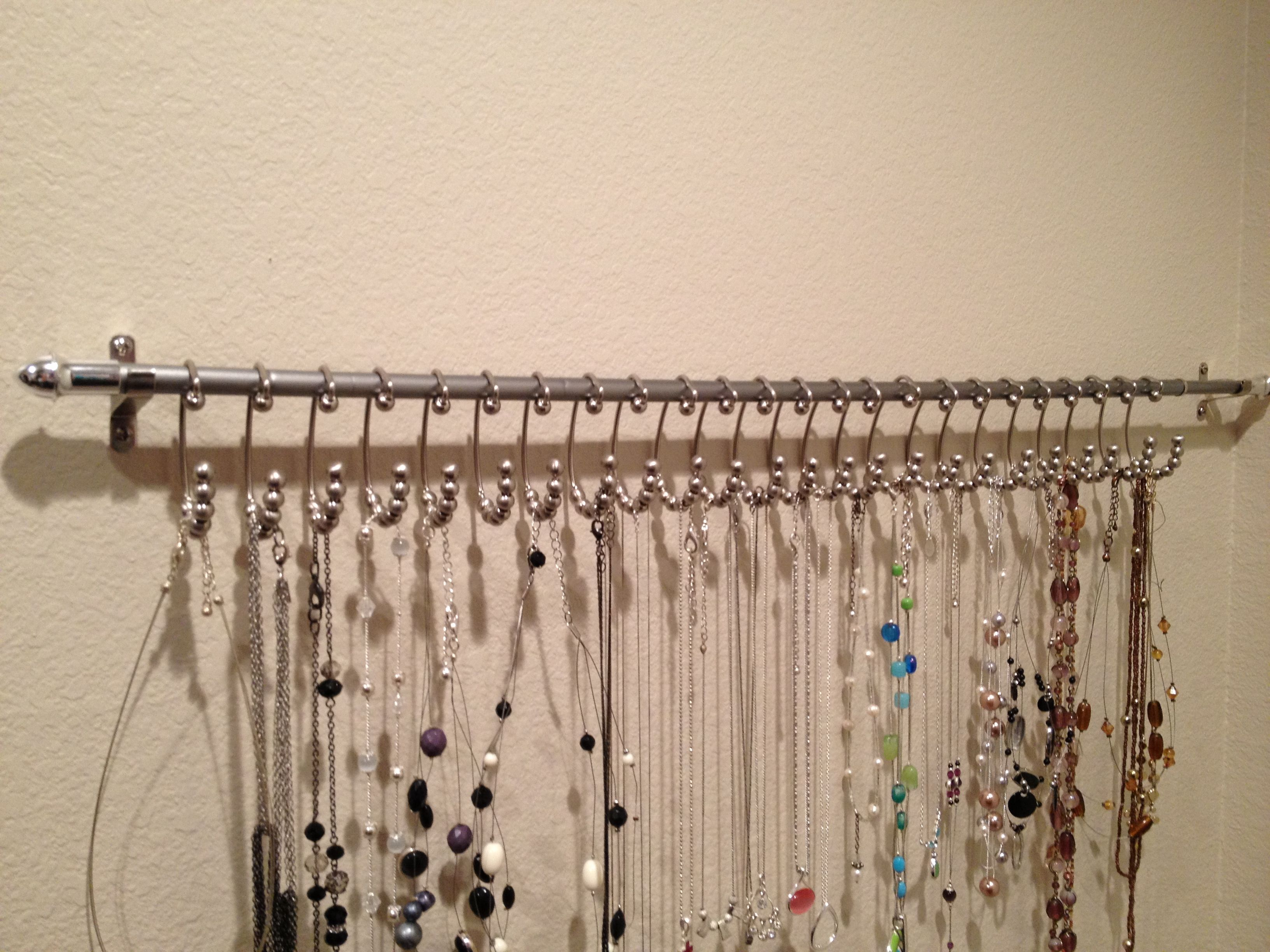 Necklace Hanger Curtain Rod And Shower Hooks From Menards