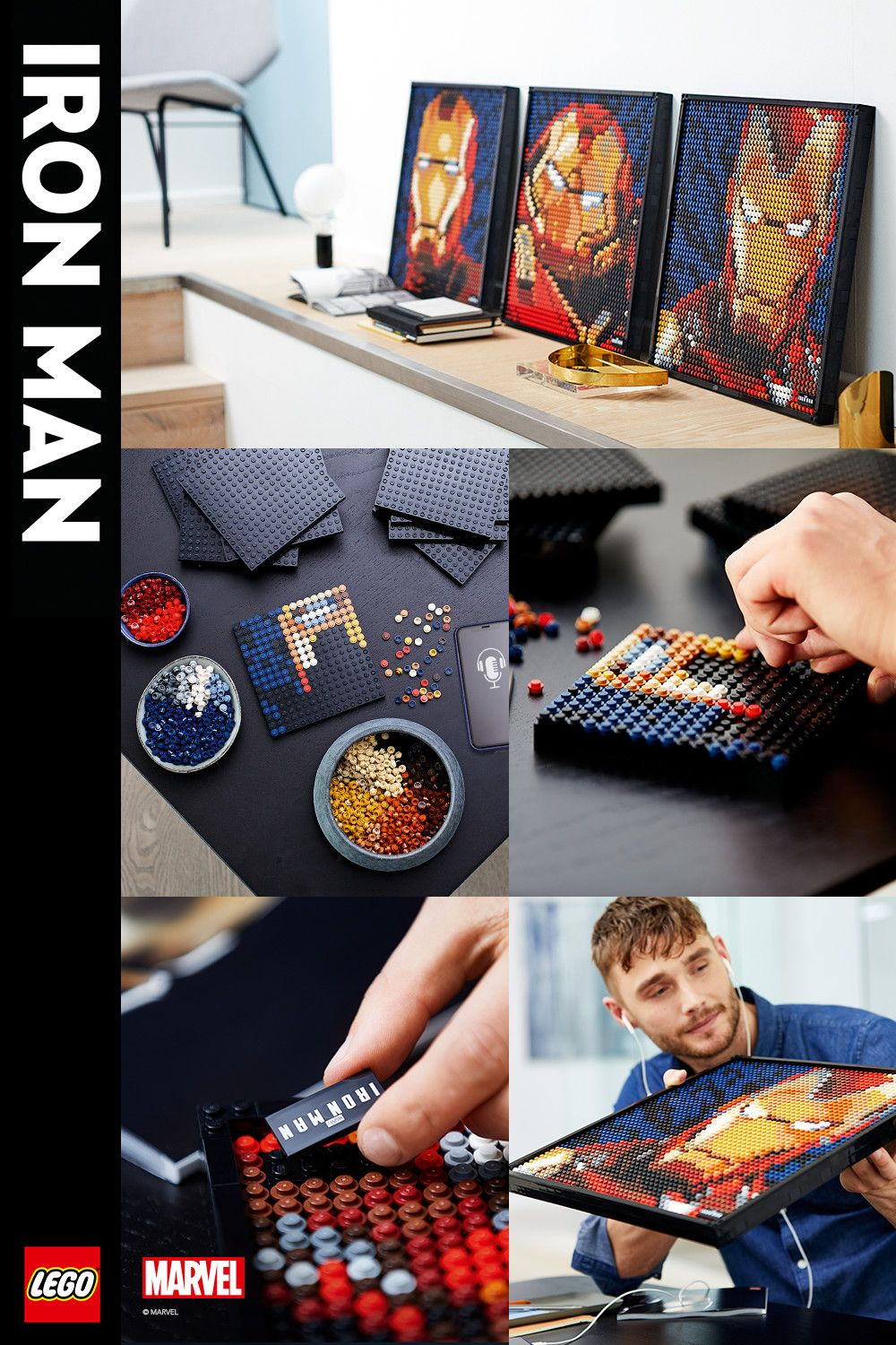 Bring Marvel Studios Iron Man to Life with LEGO® Art 20 in 20