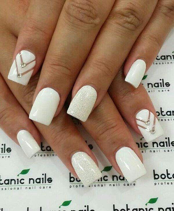 Spring winter nails spring nails pinterest winter nails spring winter nails white nails with designnail prinsesfo Image collections