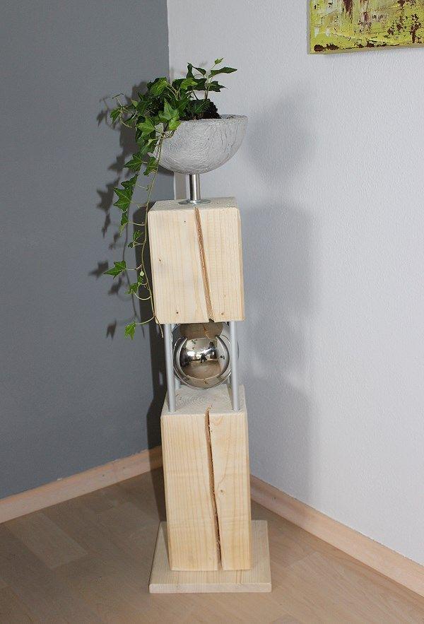 nat rlich dekorieren gro e s ulen alte holzs ulen pinterest nat rlich dekorieren. Black Bedroom Furniture Sets. Home Design Ideas
