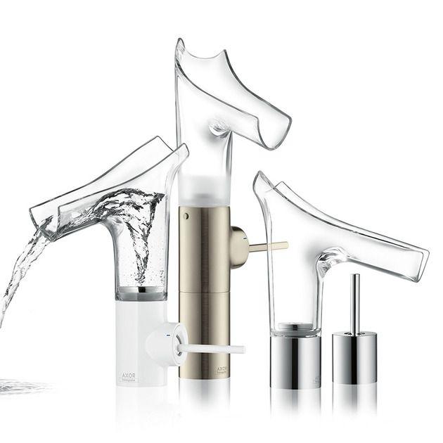 Badarmaturen Glas Edelstahl Kunststoff Wasserhahn | Wand und Boden ...