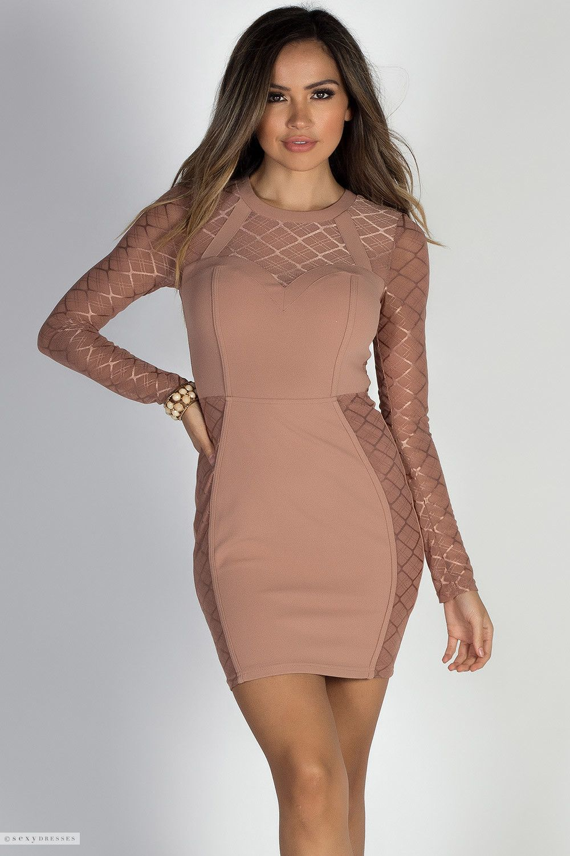 Bonjour Latte Lattice Mesh Long Sleeve Sweetheart Cocktail Dress Long Sleeve Cocktail Dress Dresses Short Sleeve Dresses [ 1500 x 1000 Pixel ]