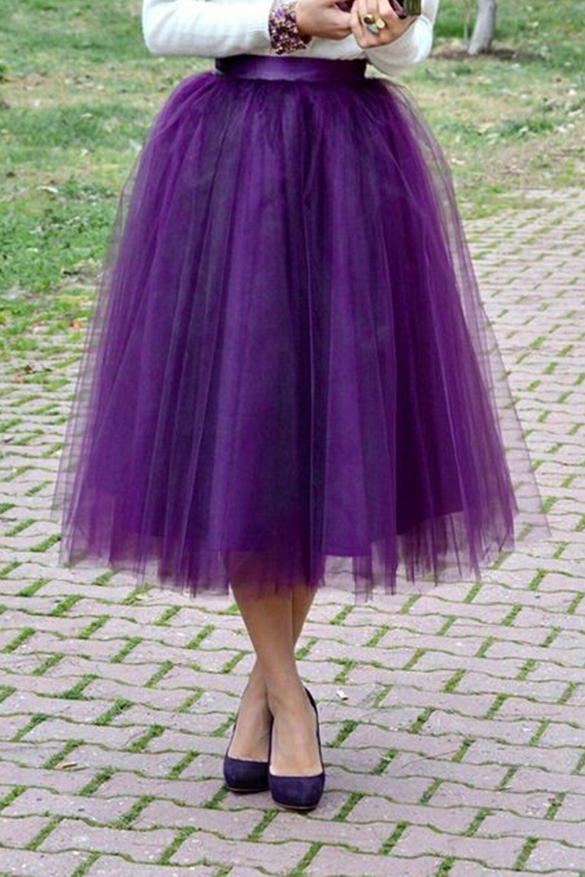 Elegant purple tulle tutu skirt   Clothing   Pinterest