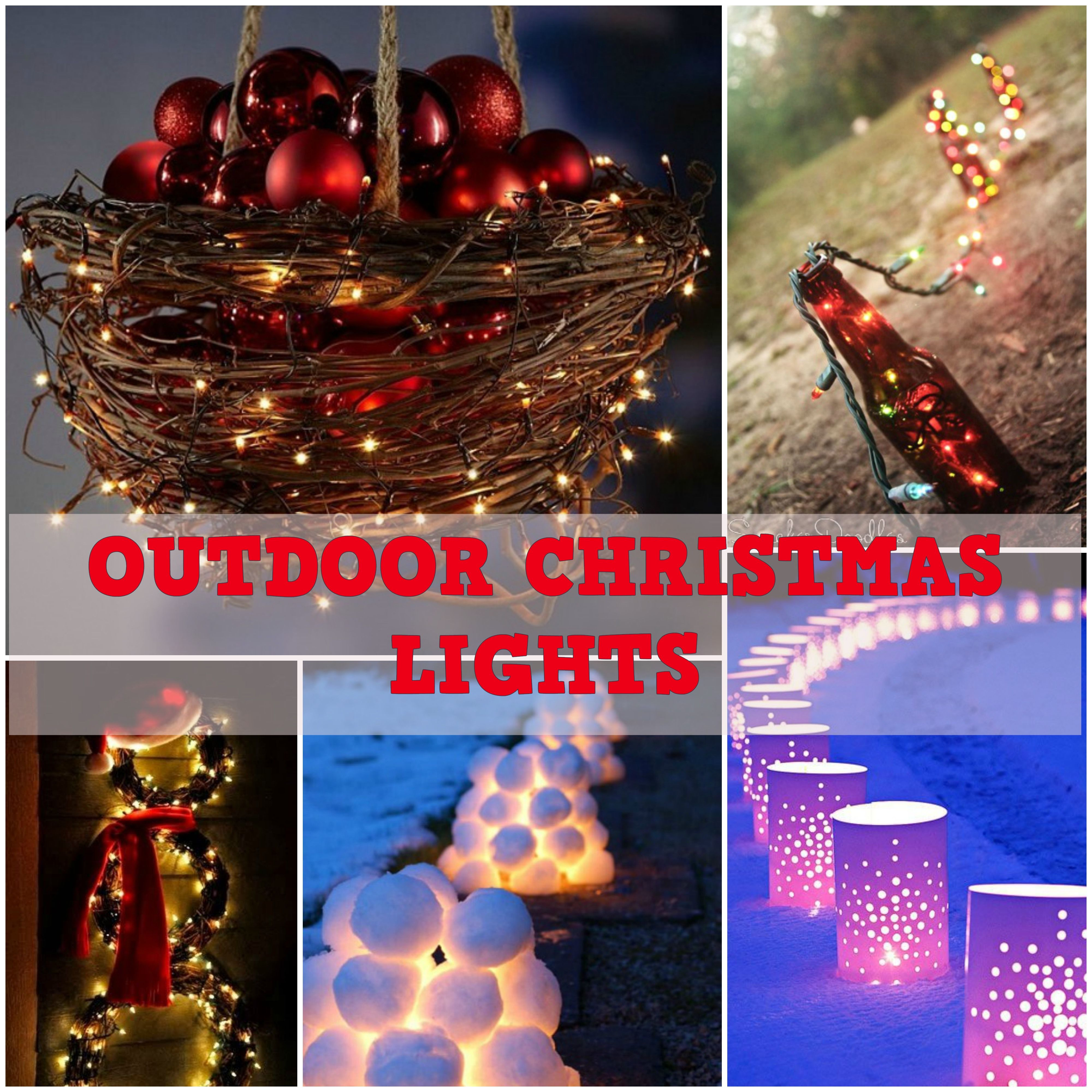 Diy outdoor christmas decorations  DIY Outdoor Christmas Lightings  Best Christmas Decorations