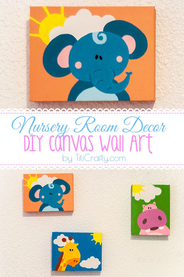 15 Diy Wall Art Ideas Page 2 Of 2 This Silly Girl S Life Diy Canvas Wall Art Diy Nursery Canvas Wall Art Diy Nursery Canvas