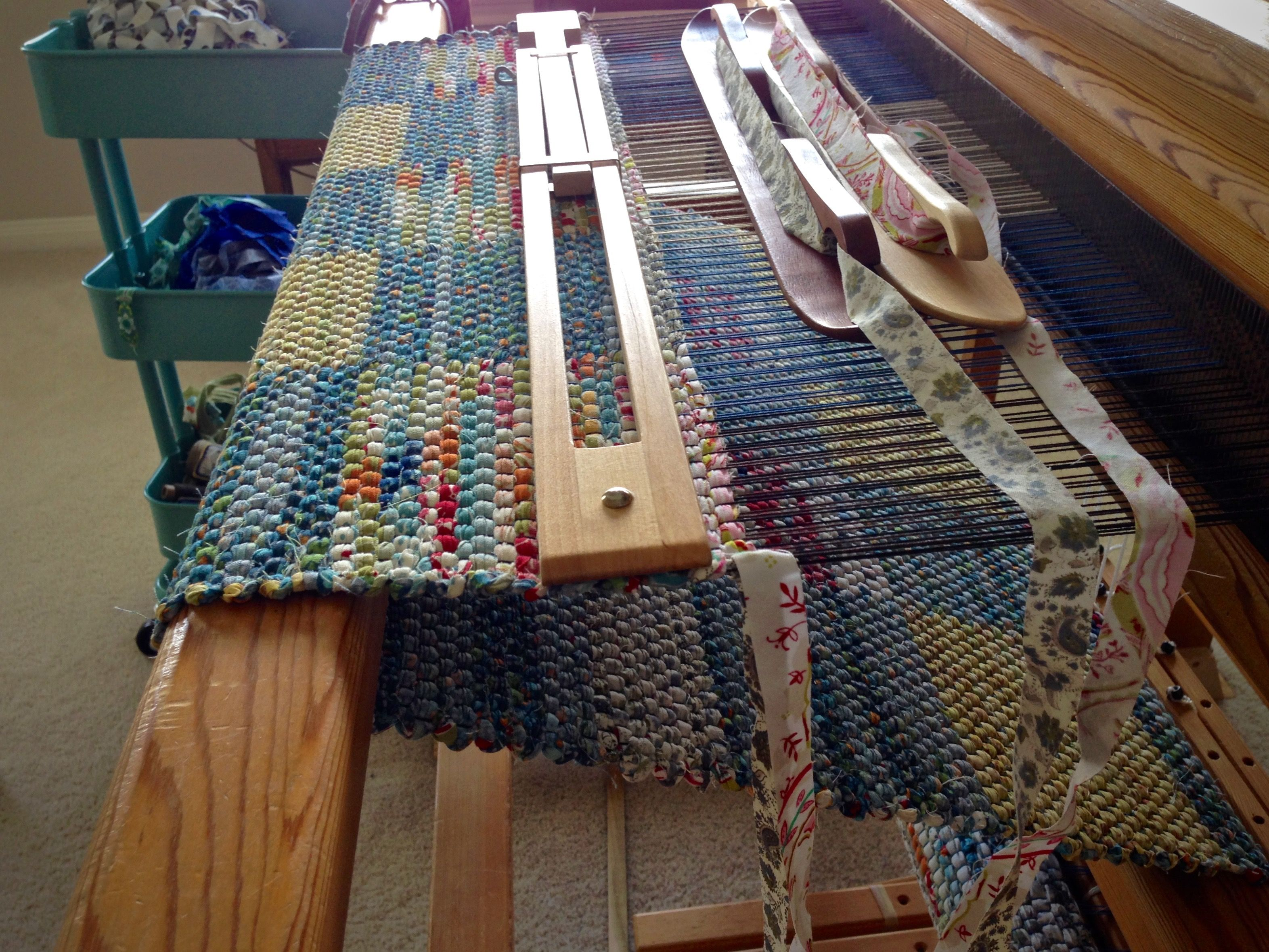 Double Binding Rag Rug On The Loom Karen Isenhower