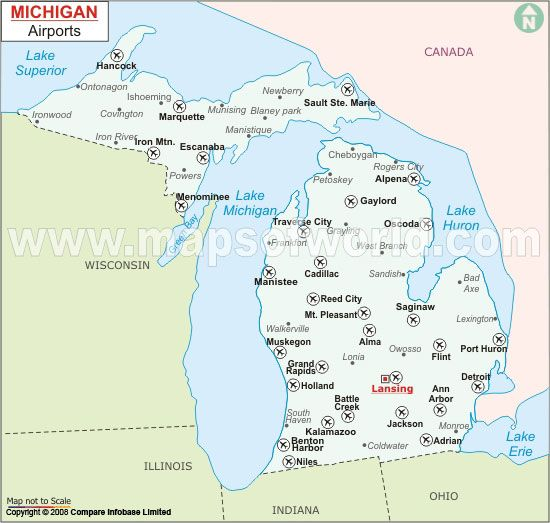 Michigan Airports Travel And Culture Pinterest - Mich map usa