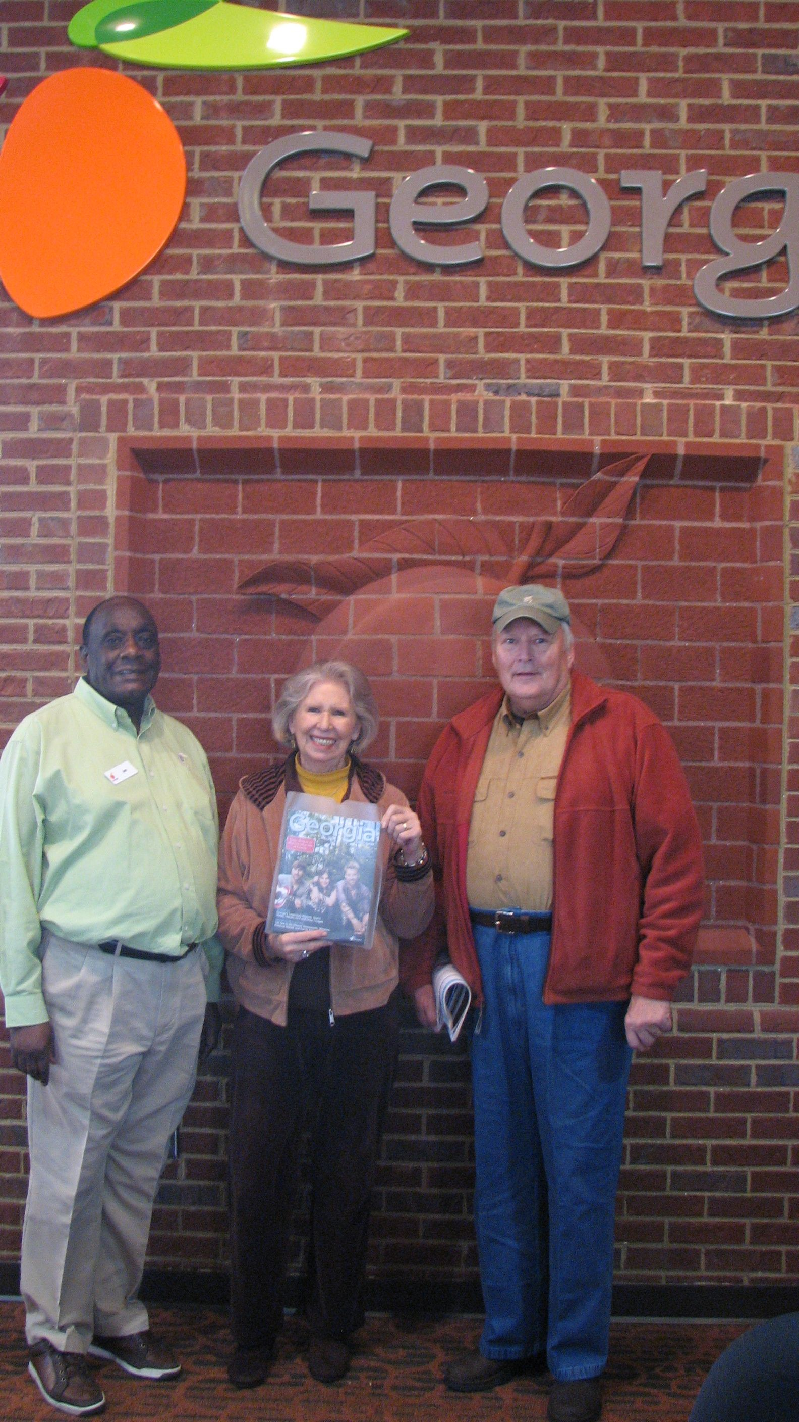 John and Judie from Lindak, South Carolina were the lucky winners of a 2012 Georgia Travel Guide signed by Lady Antebellum when they stopped by the Georgia Visitor Information Center in Augusta, located on I-20.