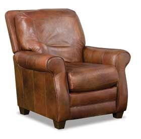 Maybe Too Weathered Bowden Leather Recliner From American Furniture