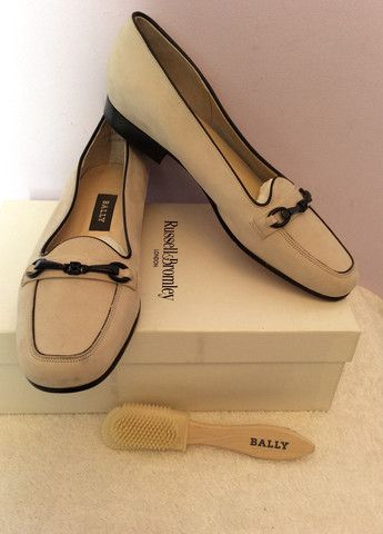 BRAND NEW BALLY BEIGE LEATHER SHOES SIZE 5/38 Whispers