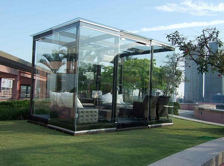 Una splendida realizzazione in ferro e vetro terrazza for Idee per giardino in terrazza