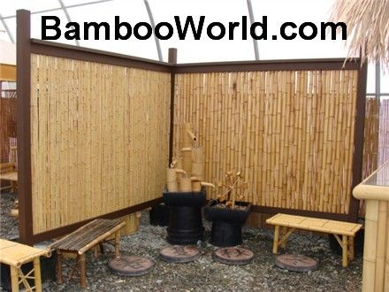 Privacy Fence Idea Bamboo Great For Around Our Hot Tub