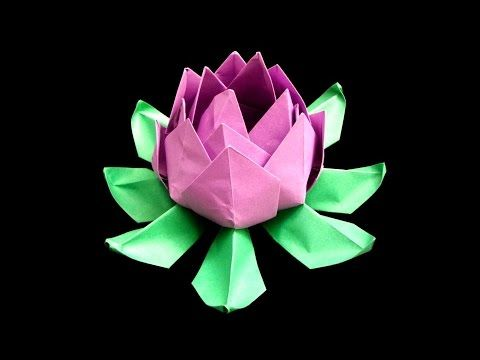 How To Make Origami Lotus Flower This Channel Is Updated Weekly