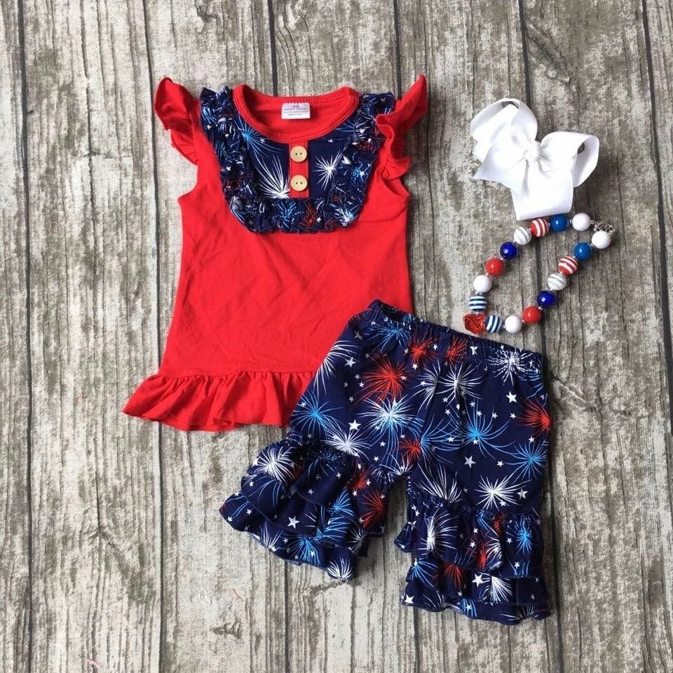 An Adorable Outfit For Your Little Firecracker To Wear To