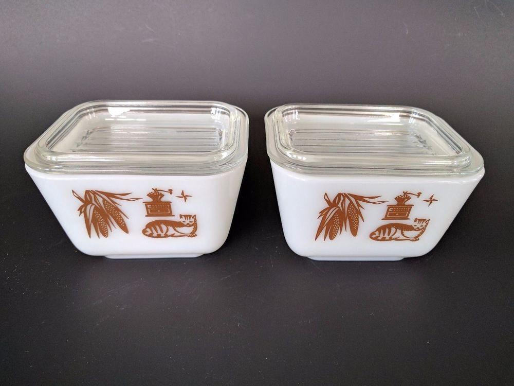 Vintage Pyrex 501 B 1 1 2 Cup Refrigerator Dish Bowl With Lids Brown Americana Pyrex Pyrex Vintage Dish Bowl Pyrex