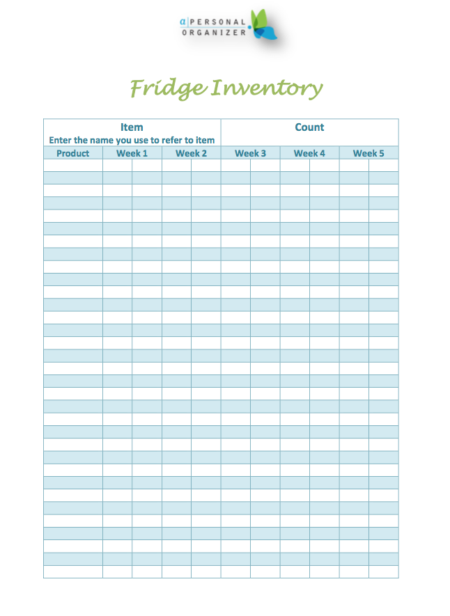 Fridge Freezer Pantry Inventory Free Printables Helena Alkhas Pantry Inventory Pantry Inventory Printable Inventory Printable
