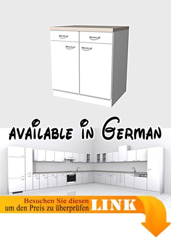 B017L7YN3O  Küchen Unterschrank 80 cm weiss - Witus Küchen - unterschrank küche 60 cm