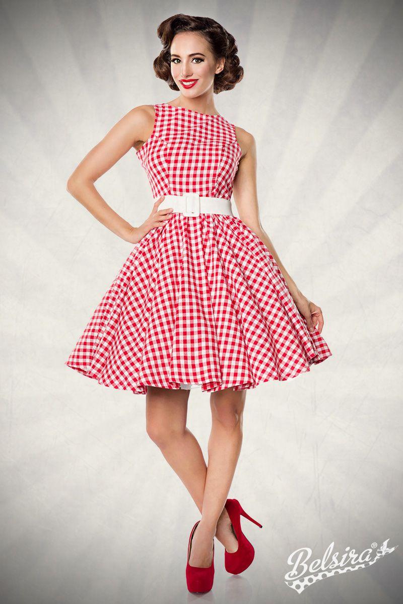 Vintagekleid/ Karomuster /1950s /Rockabilly | Karokleid ...