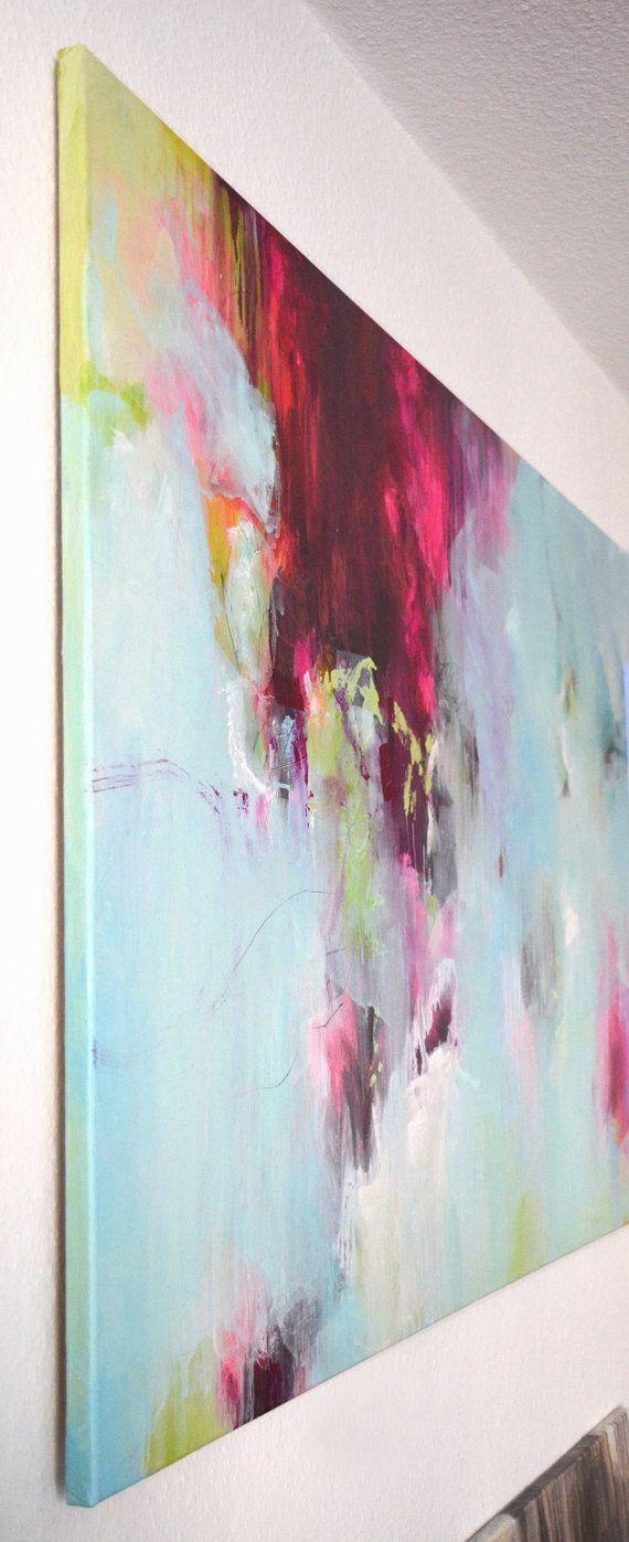 Original XL abstract acrylic work of fine