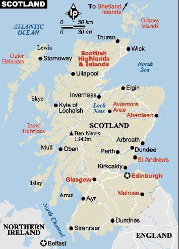scotland map   maps of europe in 2019   Scotland, Scotland travel ...