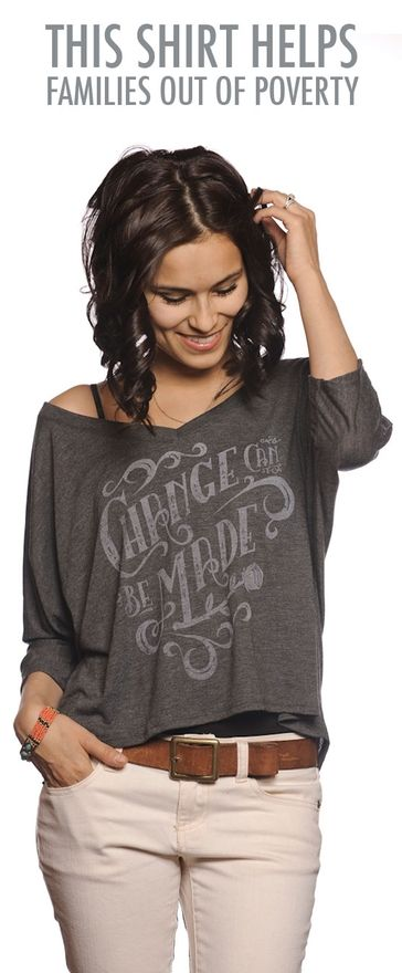 @Sevenly prints gorgeous tees every week, with the net proceeds ($7) going to a different worthy charity. I love, love, love this concept and this shirt, in particular.